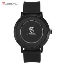 Dusky Shark Sport Watch 2017 Creative Concept Black Simple Circle Time Gift Box Rubber Watchband Male Luxury Brand Watches/SH514