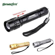 2000 LM Led Flashlight 3-Mode CREE XPE T6 lampe 18650 powerful Zoomable Focus light hand switch flashlight for camping 2017