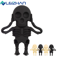 LEIZHAN 8GB Pendrive for Halloween Gift  Skull or Ghost 4GB 16GB 32GB USB Flash Pen Drive USB Flash Drive Memory Card USB Stick