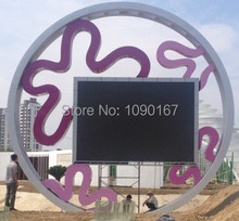 DIP full colour P10 LED display screen,Full color video wall Outdoor Simple cabinet 960mm*960mm(China)