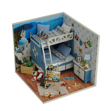 Diy Doll House Miniature 3D Wooden Puzzle Dollhouse Miniaturas Furniture House Doll For Birthday Gift Toys,Aegean Sea Tour