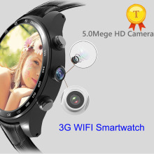 2017 New luxury Android 5.1 heart rate monitor smart watch with HD Camera support TF card 3G Wifi bluetooth phonewatch pk kw88