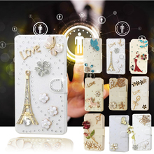 Hot Sale!   Bling Crystal Leather Wallet flip case cover for HTC Butterfly S 9060   bags Phone Protection Cover drill shell