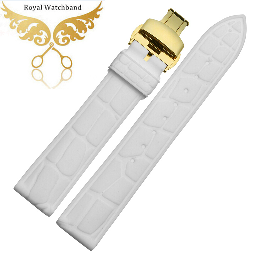 Watch band 22mm White Waterproof Sport Diver Rubber Watch Strap Band Bracelets<br><br>Aliexpress