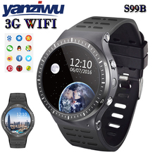 New YANZIWU S99B MTK6580 Quad Core Smart Watch 512MB+8GB GPS WIFI smartwatch with 2.0 HD high camera for apple android phone(China)