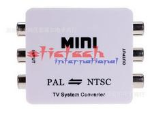 by dhl or ems 30pcs Mini HD PAL NTSC Mutual Conversion TV System Converter Adapter for Single-format Video Equipment(China)