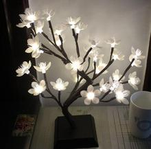 Vioslite Blossom Tree Night Lights Living Room Novelty Plum Blossom Tree Lamp LED Rose Lamps Decoration Lamp Luminarias Night
