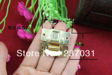 33 * 31 mm yellow button tin square/flat/fixed lock/gift box iron buckle