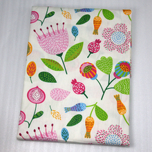 50*147CM flower Willow leaves printed 100 percent cotton fabric for Tissue Kids Bedding home textile for Sewing Tilda Doll,c740