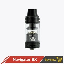 Original Fumytech Navigator BX Tank Rebuildable Coil Atomizer RTA Airflow Control Resin Drip Tip For Electronic Cigarette Mod(China)