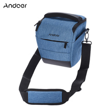Andoer DSLR Camera Bag Sleek Polyester Shoulder Camera Case for 1 Camera 1 Lens and Accessories for Canon Nikon Sony Camera(China)