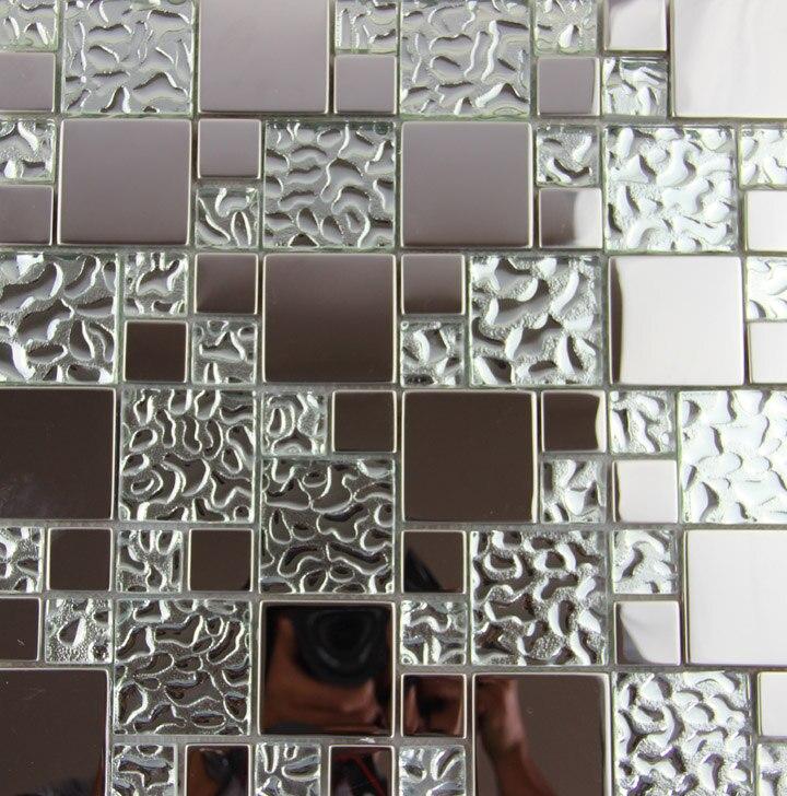 Hervorragend 11 Quadratmeter Edelstahl Metall Glas Mosaik Fliesen Küche Backsplash  Badezimmer Dusche Hintergrund Hotel Dekorative Tapete