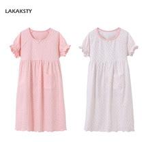 3-15T Cotton Girls Nightgowns Princess Baby Girl Night Dress Kids Pijamas Homewear Children Bathrobes Brand teens Sleep Wear