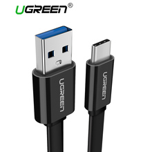 Ugreen USB 3.0 Type C Cable Flat USB C Cable for Samsung Galaxy S8 Fast Charging USB Type-C Data Charger Cable for Xiaomi mi6 5(China)