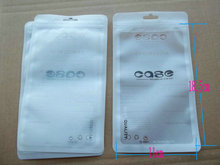 18.5x11cm zipper Retail Zipper Plastic packaging bag for samsung HTC iphone 4G 4S 5G Cases cover package bags Big hanging hole(China)