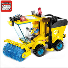 2017 Christmas City Road Sweeper Blocks Toys for Children Kids Assembled Building Blocks Brick Girl Kits Blocks Toys(China)