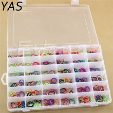 YAS Hot Sale New Practical Adjustable Plastic 36 Compartment Storage Box Case Bead Rings Jewelry Display Organizer