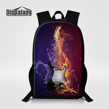 Dispalang Music Guitar Design School Backpack Bags for Teenagers Vintage Mochila Casual Rucksack Travel Daypack School Book Bag