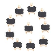 10pcs Framed Chalkboard Place Cards With Easel Wood Blackboard Fit Products Craft Accessories DiY