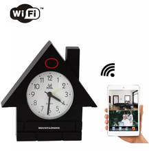 MOUNTAINONE New Arrival WIFI Mini Clock DVR,Home Security Protect wifi camera support on mobile phone or tablet in stock(China)