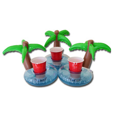 3pcs/lot Pool Float Water Inflatable Coconut Tree Drink Cup Transportor Swim Ring Holiday Water Fun Pool School Toys