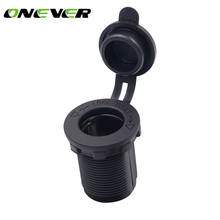 Onever 12V Waterproof Car Accessory Cigarette Lighter Socket Power Plug Outlet for Boat Tractor Motorcycle Car-styling Black(China)