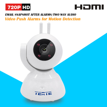 TEATE 720P HD Alarm P2P IP Camera Wireless Two Way Audio Support 433HZ Alarm Devices One Key Setup Wifi and Alarms SK-386