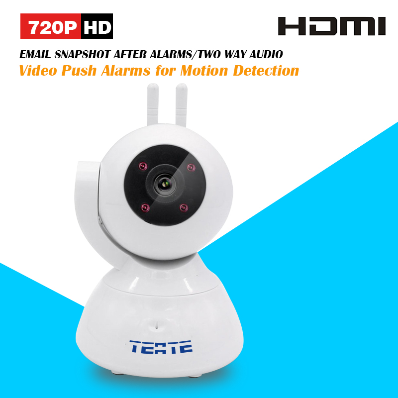 TEATE 720P HD Alarm P2P IP Camera Wireless Two Way Audio Support 433HZ Alarm Devices One Key Setup Wifi and Alarms SK-386(China (Mainland))