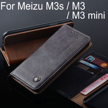 Buy Meizu m3s case Luxury Leather Flip cover Stand Card Slot Vintage style Cases Meizu m3 mini funda Without magnets for $6.33 in AliExpress store