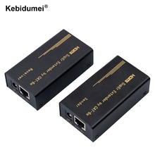 60M HDMI Super Extender Transmitter +Receiver Sender with RJ45 LAN Interface CAT6e Signal Network Cable For DVD PS3 Projector