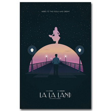 Buy La La Land Art Silk Fabric Poster Print 13x20 24x36 inch Cartoon Picture Living Room Wall Decoration 002 for $4.91 in AliExpress store