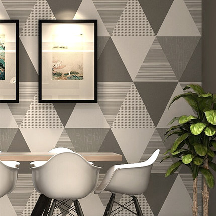 PAYSOTA Caribbean Style Nordic Gray Geometric Pattern Living Room Wallpaper Modern Bedroom TV Background Wall Paper Roll<br>