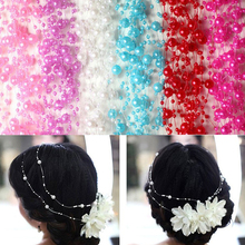 10 Meters Multi Color Fishing Line Artificial Pearls Beads Chain Garland Flowers Wedding Party Decoration Products Supply