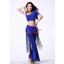 Bonny Suit For Women Including Dress,Pant,Fringed Waist Chain, Indian Dance Sets,Lose Weight Clothes,Ballroom Dance Dress HSK043(China)