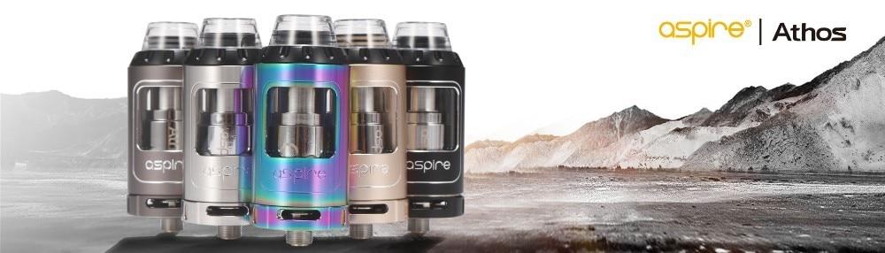 E-Cigarettes Aspire Athos Tank Atomizer with A3 A5 Coil Fit Electronic Cigarette Speeder 0W Box Mod Vape Tank e cigarette 1