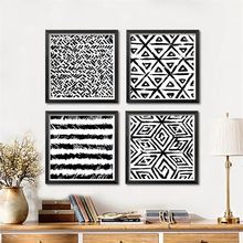 Ink painting abstract decorative prints living room wall painting modern simple black and white  painting FG0005