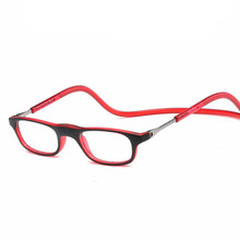 hanging reading glasses Retail 1pcs fashion Magnetic reading glasses colorful magnetic readers lenses power from +1.00 to +4.00(China)