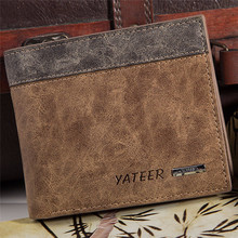mens wallet PU leather premium product real Men wallets for man short black walet portefeuille homme Wholesale !(China)