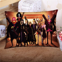 NEW cute 40*60cm Custom Anime One Piece Luffy Zoro Law Ace Pillow stuffed Solf Two-sided 3D Prints pillow Christmas Gifts(China)