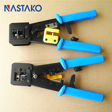 NASTAKO tools RJ11 EZ RJ45 Pliers crimper Crimping Cable Stripper pressing line clamp pliers tongs for network EZrj45 connectors(China)