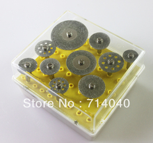 Free shipping, 10PCS/set  Diamond grinding cutting discs,  grinder heads for Dremel Rotary Tools , factory price