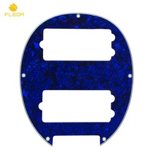 FLEOR 5 String Bass Pickguard Humbucker HH Guard Plate 4Ply for Music Man Style Electric Bass Parts, Blue Pearl