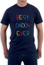Best Daddy Ever - Kid's Handwriting Gift for Father's Day T-Shirt Funny Casual Short Sleeve Shirt Tee