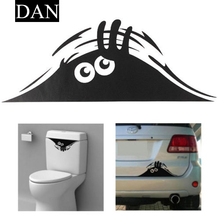 Hot Sale 1 Pieces two type Home Decor Cute Peeking Monster Scary Eyes Window Toilet Graphic Vinyl Decal Sticker random shipping