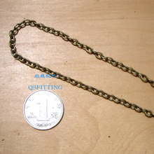 supply DIY fashion jewelry Accessory,6*4MM alloy chain,anti-brozen plated,necklace department
