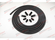 AN6 Nylon cover Racing Performance Automatic Transmission Cooler Line Kit NH-66442(China)