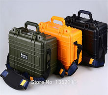 341*249*180mm ABS protection material Plastic sealed waterproof safety equipment case IP68 degree safety portable tool box(China)