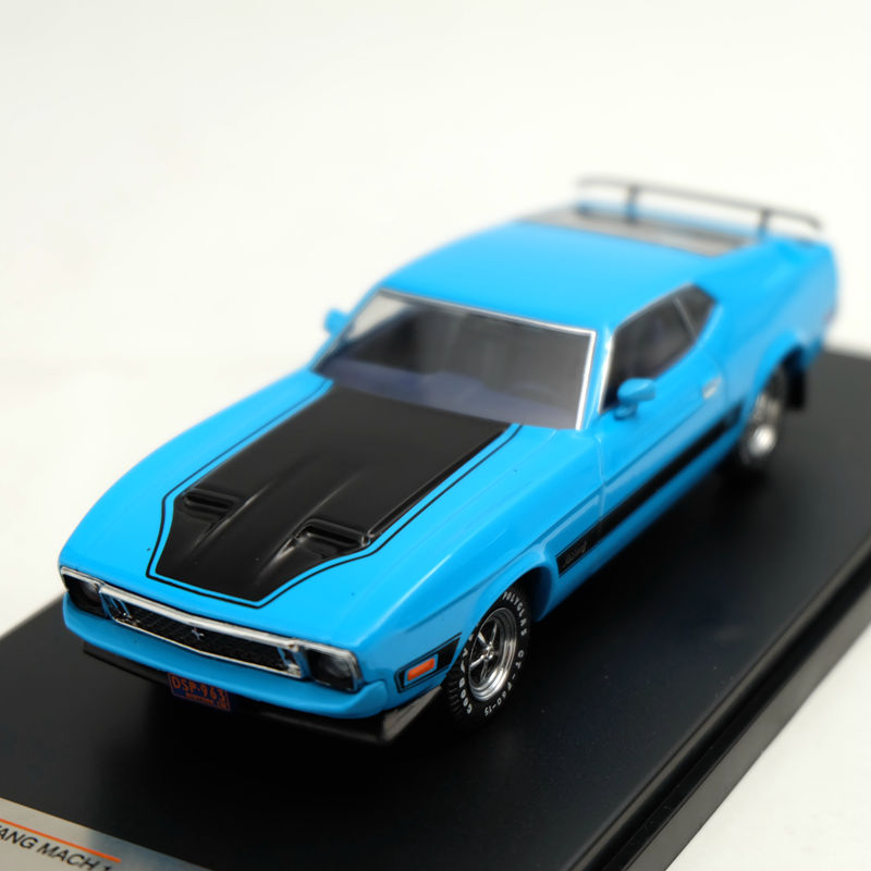 IXO Premium X 1:43 Ford Mustang Mach 1 1973 PRD399J Blue Auto Resin Toys Car