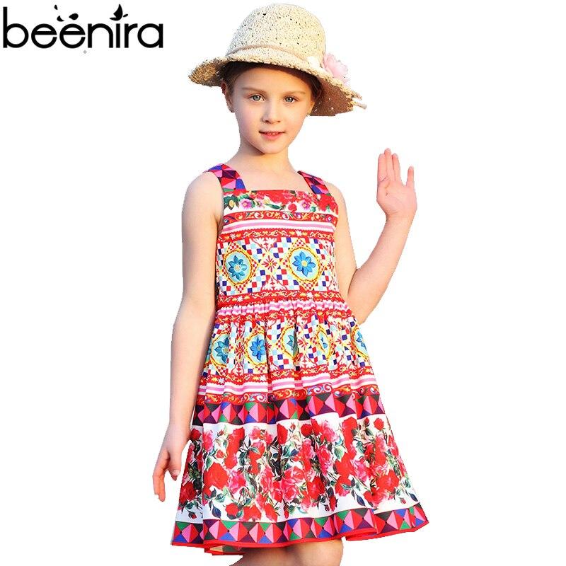 Summer Girls Princess Dress Baby Rose Lattice Print Costume for Child Children Vestido Infanti lHigh Quality Bohemia Clothing <br>