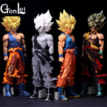 Buy GonLeI 33CM Dragon Ball Z Action Figures MSP Son Goku Chocolate Comics Ver. PVC Action Figure Collection Model Doll Toy for $31.99 in AliExpress store
